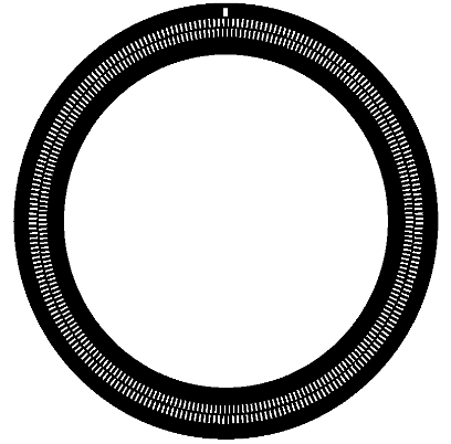 Figure 1: Disk with two incremental tracks