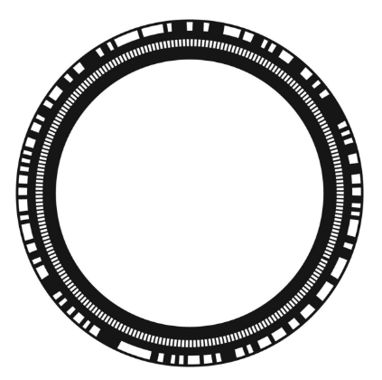 Figure 2: Disk with one absolute and one incremental track